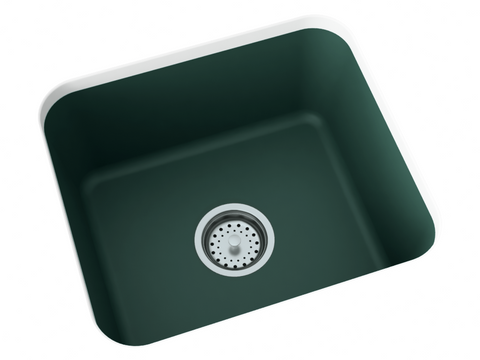 forest green undermount laundry sink