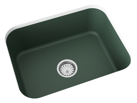 forest green undermount kitchen sink