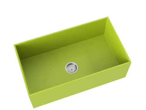 apple green farmhouse kitchen sink