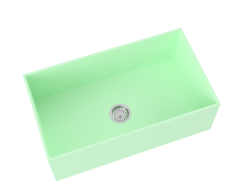 mint green farmhouse kitchen sink