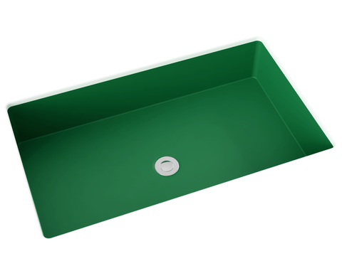 green undermount bathroom sink