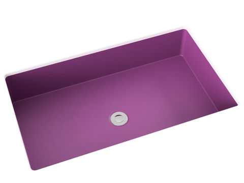 pink undermount bathroom sink