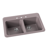 "Double Bowl Drop-In Retro Kitchen Sink, 33"" - Harry"