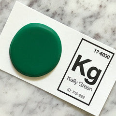 green sink sample chip