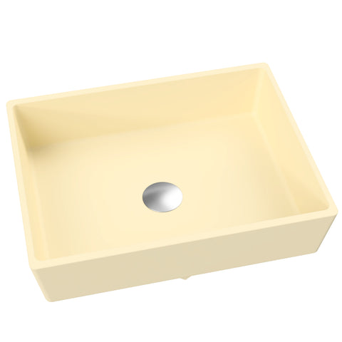 "Rectangular Vessel or Wallmount Bathroom Sink, 17"" - Kika"