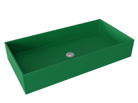 green wallmountable vessel bathroom sink