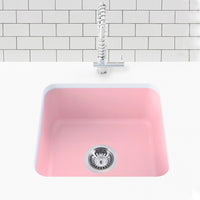 blush pink undermount laundry sink