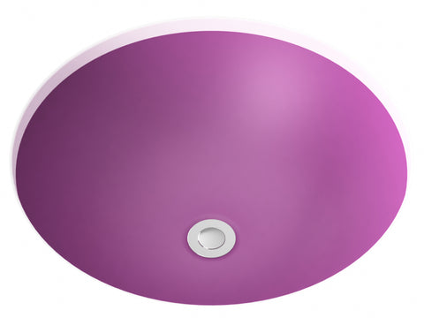 purple pink undermount bathroom sink