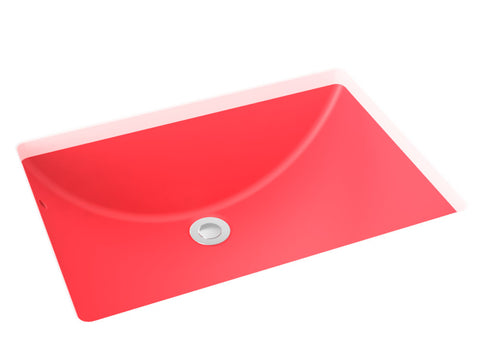 berry pink undermount bathroom sink