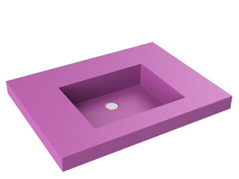 purple pink flat bottom wallmount bathroom sink