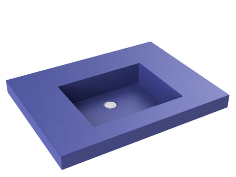 cobalt blue flat bottom wallmount bathroom sink