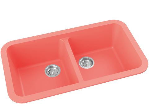 coral dual basin drop-in kitchen sink