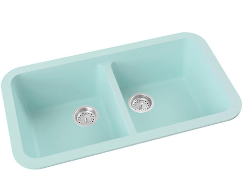silver grey double basin drop-in kitchen sink
