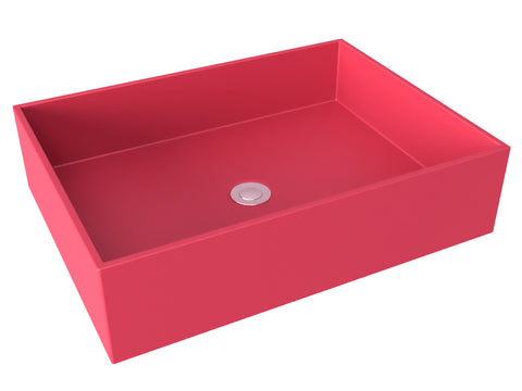 berry pink flat bottom vessel bathroom sink