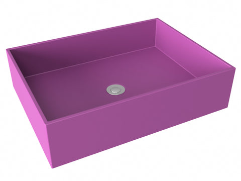 purple pink flat bottom vessel bathroom sink