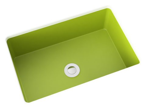 apple green small undermount bathroom sink