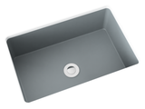 grey small undermount bathroom sink