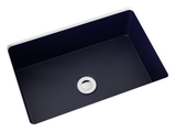 navy blue small undermount bathroom sink