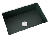 forest green small undermount bathroom sink