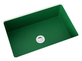 green small undermount bathroom sink