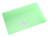 mint green small undermount bathroom sink