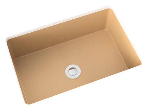 mocha tan small undermount bathroom sink