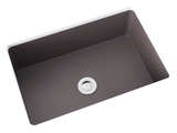 grey brown small undermount bathroom sink