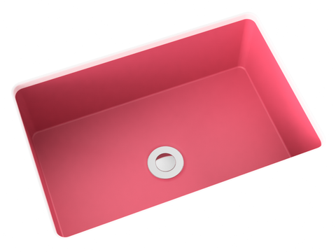 pink small undermount bathroom sink