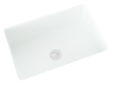 white small undermount bathroom sink