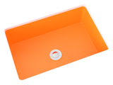 orange small undermount bathroom sink