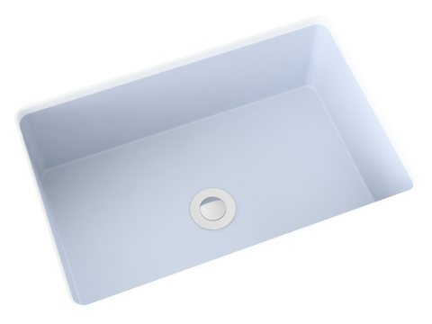 blue grey flat bottom undermount bathroom sink