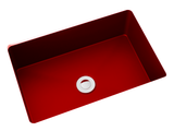 red small undermount bathroom sink