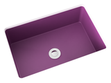 purple pink small undermount bathroom sink