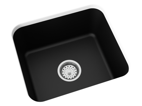 midnight black undermount laundry sink