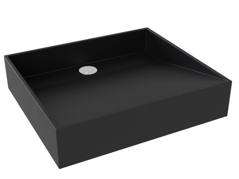 midnight black vessel bathroom sink