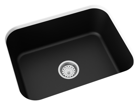 midnight black undermount kitchen sink