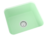 mint green undermount laundry sink