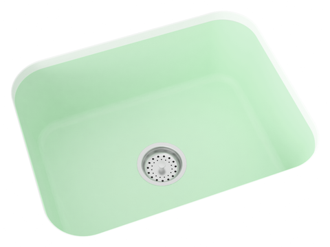 mint green undermount kitchen sink
