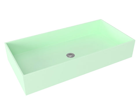 Mint green vessel wallmountable bathroom sink