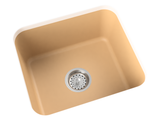 tan brown laundry sink