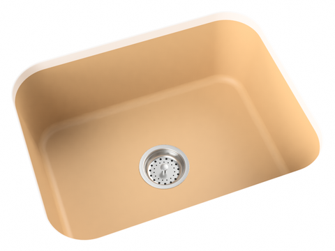 mocha tan undermount kitchen sink