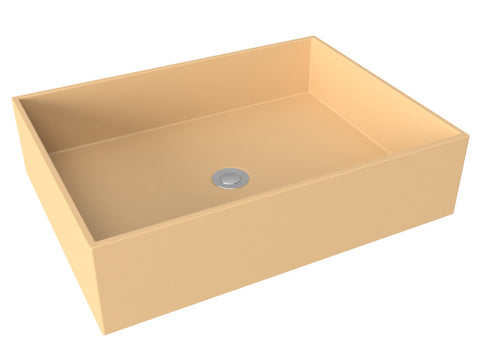 mocha tan flat bottom vessel bathroom sink