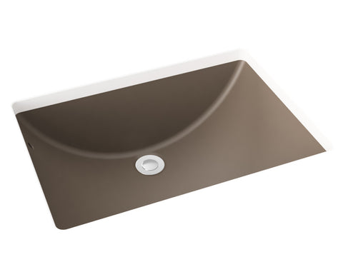 grey brown undermount bathroom sink