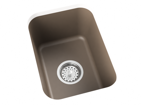 grey brown bar sink