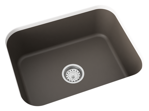 brown grey undermount kitchen sink