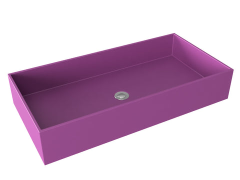 purple wallmountable vessel bathroom sink