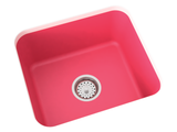 berry pink undermount laundry sink