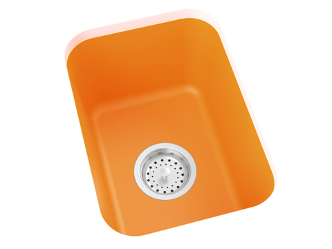 orange bar sink