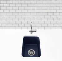 navy blue bar sink