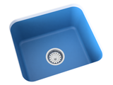 blue laundry sink